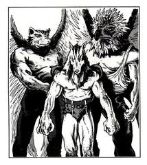 {$tags} Arconti Segugio, Spada e Tomo - by Thomas Baxa TSR D&D 2nd edition Monstruous Compendium Appendix, Outer Planes (1991-01) © Wizards of the Coast & Hasbro