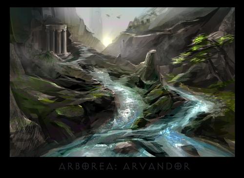 "ronamis ""Arborea - Arvandor"", cartolina dei Piani Esterni - by ronamis (Michael Malkin) ronamis.deviantart.com (2013) © dell'autore tutti i diritti riservati"