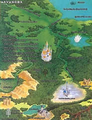 map Mappa di Arvandor - by Roy Boholst TSR - On Hallowed Ground (1996-09) © Wizards of the Coast & Hasbro