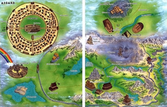 realm map Mappa del reame di Asgard - by Roy Boholst TSR - On Hallowed Ground (1996-09) © Wizards of the Coast & Hasbro