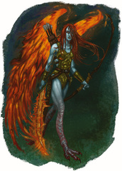 {$tags} Asura - by Mark Nelson Libro delle Imprese Eroiche (2003) © Wizards of the Coast, 25 Edition & Hasbro