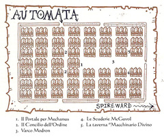 map Mappa della città di Automata TSR - A Player's Primer to the Outlands (1995) © Wizards of the Coast & Hasbro
