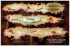 map zrintor zelatar samora tornbend Schema del Triplo Reame di Azzagrat Fiendish Codex I, Hordes of the Abyss (2006) © Wizards of the Coast & Hasbro