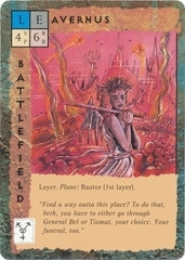 "layer ""Avernus"" - by Rob Lazzaretti TSR - ""Blood Wars"" card game Base Escalation Pack 3, Powers & Proxies (1995) © Wizards of the Coast & Hasbro"