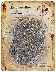 city map kyton baator Mappa di Jangling Hiter Fiendish Codex II, Tyrants of the Nine Hells (2006) © Wizards of the Coast & Hasbro