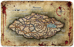 baator map Una mappatura di Nessus Fiendish Codex II, Tyrants of the Nine Hells (2006) © Wizards of the Coast & Hasbro