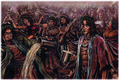 {$tags} Una banda di Baccanti - by Kevin McCann WOTC - Fiend Folio (2003) © Wizards of the Coast & Hasbro
