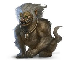 foo creature foo lion Un Leone Foo - by Andrew Olson Pathfinder Roleplaying Game, Bestiary 3 (2012-01) ©Paizo Publishing, Wizards of the Coast & Hasbro