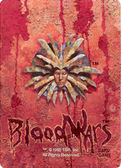 "Blood Wars cardback Retro delle carte del gioco di Planescape ""Blood Wars"" TSR - ""Blood Wars"" card game Packs (1995) © Wizards of the Coast & Hasbro"