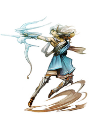 {$tags} Azata (eladrin) bralani - by Alex Shim Pathfinder Roleplaying Game Bestiary (2009) © Paizo Publishing, Wizards of the Coast & Hasbro