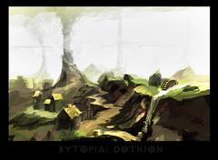 """ronamis """"Bytopia - Dothion"""", cartolina dei Piani Esterni - by ronamis (Michael Malkin) ronamis.deviantart.com (2013) © dell'autore tutti i diritti riservati"""