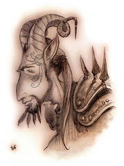 {$tags} Cervidal - by Tony Diterlizzi TSR Planescape Monstrous Compendium Appendix II (1995-09) © Wizards of the Coast & Hasbro