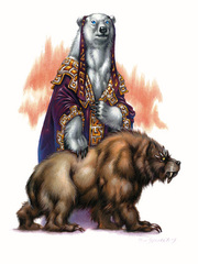 {$tags} Bharrai, la Grande Orsa matriarca degli Ursinal - by Ron Spencer Libro delle Imprese Eroiche (2003) © Wizards of the Coast, 25 Edition & Hasbro