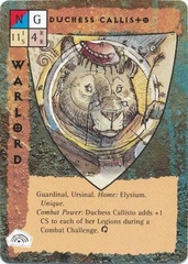 "five companions celestial paragon guardinal ""Duchess Callisto"", la Duchessa degli ursinal - by Tony Diterlizzi TSR - ""Blood Wars"" card game Base Pack (1995) © Wizards of the Coast & Hasbro"