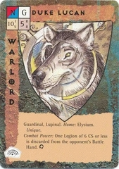 "five companions celestial paragon guardinal ""Duke Lucan"", vecchio signore dei lupinal - by Tony Diterlizzi TSR - ""Blood Wars"" card game Base Pack (1995) © Wizards of the Coast & Hasbro"