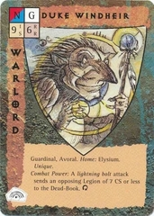 "five companions celestial paragon guardinal ""Duke Windheir"", degli avoral - by Tony Diterlizzi TSR - ""Blood Wars"" card game Base Pack (1995) © Wizards of the Coast & Hasbro"