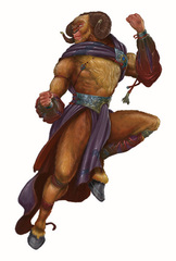five companions celestial paragon guardinal Manath, il Duca Cornuto dei Cervidal - by Arnie Swekel Libro delle Imprese Eroiche (2003) © Wizards of the Coast, 25 Edition & Hasbro