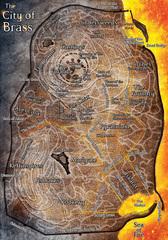 city of brass map Mappa della Città di Ottone - by Jason Engle Manual of the Planes (2008-12) © Wizards of the Coast & Hasbro