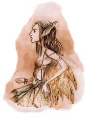 {$tags} Eladrin coure - by Tony Diterlizzi TSR Planescape Monstrous Compendium Appendix II (1995-09) © Wizards of the Coast & Hasbro