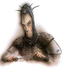 {$tags} Cuprilach Rilmani - by Tony Diterlizzi TSR Planescape - Monstrous Compendium Appendix II (1995-02) © Wizards of the Coast & Hasbro