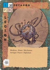 "modron ""Decaton"", decatone - by David C. Sutherland III TSR - ""Blood Wars"" card game Base Pack (1995) © Wizards of the Coast & Hasbro"
