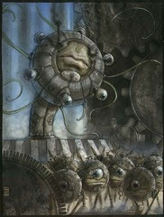 modron monodrone decaton Un decatone e dei monodroni su Mechanus - by Tony Diterlizzi TSR - Planescape Campaign Setting, Monstrous Supplement (1994-04) © Wizards of the Coast & Hasbro