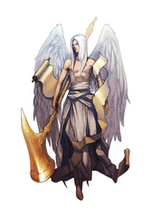 {$tags} Deva Astrale - by Alex Shim Pathfinder Roleplaying Game Bestiary (2009) © Paizo Publishing, Wizards of the Coast & Hasbro