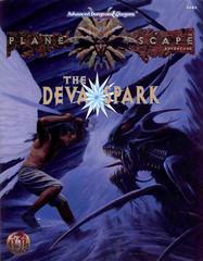 {$tags} Un deva monadico contro un bebilith - by Dana Knutson TSR - Planescape, The Deva Spark (1994-11) © Wizards of the Coast & Hasbro