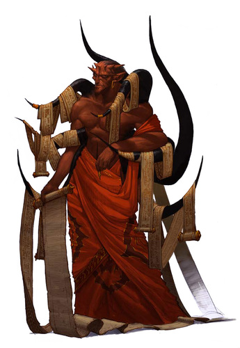 Phistophilus Diavolo del Contratto - by Concept Art House **//Pathfinder Roleplaying Game - Bestiario 3//** (2011) © Paizo Publishing, LLC, Wyrd Edizioni