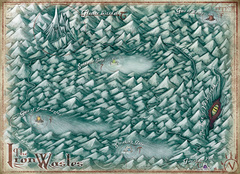 iron wastes map Mappa delle Distese Ferrose - by Jared Blando WOTC - Demonomicon (2010-07) © Wizards of the Coast & Hasbro
