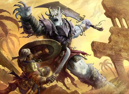 "sepid ""Div Battle"" - by Jason A. Engle **//PathfinderAdventure Path - Legacy of Fire part 5, The Impossible Eye//** (2009) © Paizo Publishing, LLC, Wyrd Edizioni"