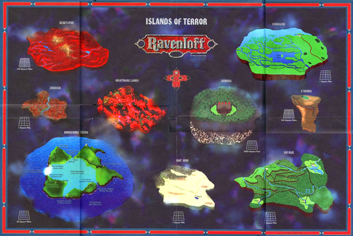 islands of terror Le Isole del Terrore a Ravenloft TSR - Ravenloft Campaign Setting (1994-05) © Wizards of the Coast & Hasbro