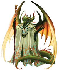 {$tags} Guardinal (agathion) draconal - by Eva Widermann Pathfinder Roleplaying Game Bestiary 2 (2011-01) © Paizo Publishing, Wizards of the Coast & Hasbro