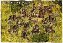 map gate-town Mappa di Ecstasy - by Rob Lazzaretti Dragon Magazine #351 (2007-01) © Wizards of the Coast & Hasbro
