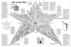 map city of the star La Città della Stella, su Elysium TSR - Planes of Conflict (1995-11) © Wizards of the Coast & Hasbro