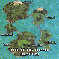 isles of the blessed Isole dei Benedetti su Elysium TSR - On Hallowed Ground (1996-09) © Wizards of the Coast & Hasbro