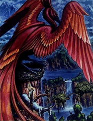 principality realm phoenix fenice Scorcio del reame del Principato - by Ned Dameron TSR - The Deva Spark (1994-11) © Wizards of the Coast & Hasbro