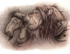 {$tags} Equinal e leonal - by Tony Diterlizzi TSR Planescape Monstrous Compendium Appendix II (1995) © Wizards of the Coast & Hasbro