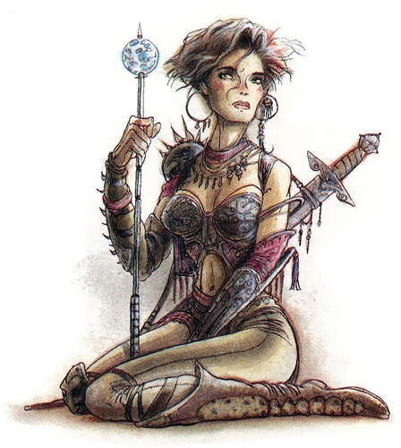 {$tags} Erin Darkflame Montgomery, factol dei sensisti - by Tony Diterlizzi TSR Planescape Campaign Setting, A Player's Guide to the Planes (1994-04) © Wizards of the Coast & Hasbro