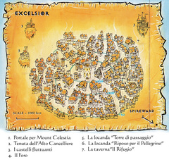 {$tags} Mappa della città di Excelsior TSR - A Player's Primer to the Outlands (1995) © Wizards of the Coast & Hasbro