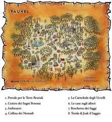 """faunel outlands gate-town map Mappa di Faunel - by Geneviève """"Morgege"""" Morge, su """"Le Rat Crevé"""" www.ratcreve.com (2008-2013) © Le Rat Crevé"""