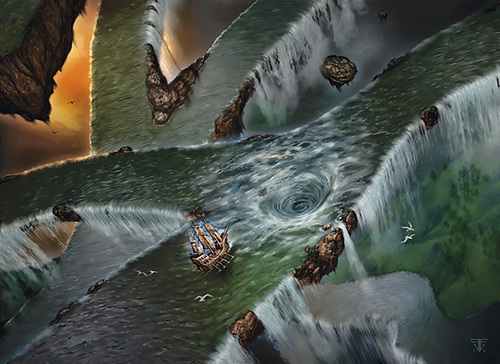 "planar rivers riverweb ""The Riverweb"", vie d'acqua planari - by Franz Vohwinkel WOTC - The Plane Below, Secrets of the Elemental Chaos (2009-12) © Wizards of the Coast & Hasbro"