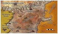 map seeping forest Mappa della Foresta Gocciolante di Yeenoghu Fiendish Codex I, Hordes of the Abyss (2006) © Wizards of the Coast & Hasbro