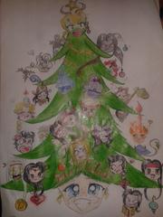 """bianca planescape shard christmas concorso Buon Natale, disegnato """"a manina"""" - by Bianca (PG Mistral) www.planescape.it (2013-12) © dell'autore e Ultima Online Planescape Shard"""