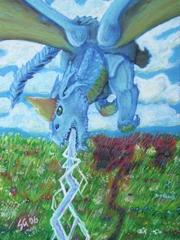"""steelgrave """"3e Blue Dragon"""" - by steelgrave (Shaun) steelgrave.deviantart.com (2006) © dell'autore tutti i diritti riservati"""
