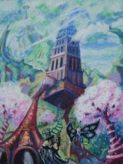 """steelgrave """"Asking for Directions"""", uno dei castelli erranti delle Terre Esterne - by steelgrave (Shaun) steelgrave.deviantart.com (2008) © dell'autore tutti i diritti riservati"""