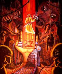 """steelgrave demogorgon """"Collecting Halos"""", un cacciatore di taglie al cospetto di Demogorgon - by steelgrave (Shaun) steelgrave.deviantart.com (2009) © dell'autore tutti i diritti riservati"""