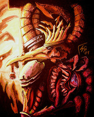 """steelgrave dark sun """"Beholder Snack"""", sempre il potente Dregoth che fa uno spuntino - by steelgrave (Shaun) steelgrave.deviantart.com (2009) © dell'autore tutti i diritti riservati"""