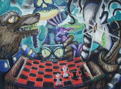 """steelgrave arcanaloth """"Low on Play Time"""", rischioso sfidare ad una partita un ultroloth - by steelgrave (Shaun) steelgrave.deviantart.com (2008) © dell'autore tutti i diritti riservati"""