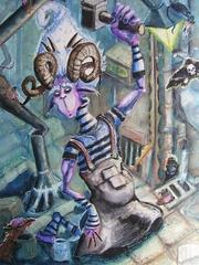 """steelgrave cranium rat """"Night Laborer"""", i dabus piacciono ai topi cranio? - by steelgrave (Shaun) steelgrave.deviantart.com (2008) © dell'autore tutti i diritti riservati"""